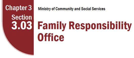 Family Responsibility Office FRO - Ontario Auditor General Report 2010