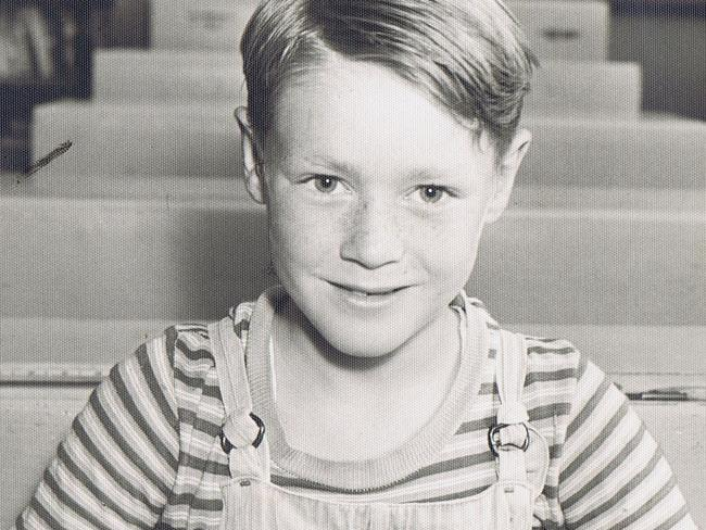 Ian at the age of eight, around the time his mother was abusing him.